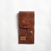 Le Tabac pipe pouch brown 9x20 cm