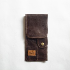 Le Tabac pipe pouch dark brown 9x20 cm