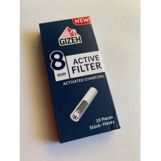 Filters Gizeh carbon activated 8 mm (for 9 mm) x 10 units